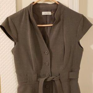 Gray button up Calvin Klein Dress Size 6